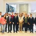 Professor Liu e pesquisadores do INPE